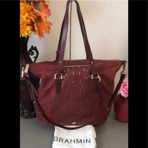 Brahmin Hobo Delaney Wilmington Cranberry